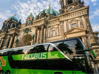 FlixBus controls network design, marketing, sales, customer experience design, and branding, while the driver and vehicle are provided by the operator who is otherwise invisible to the user.