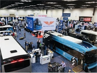 The BusCon showfloor featured all the latest vehicles on the market, including offerings from MCI and New Flyer.