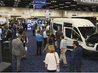 The BusCon show floor featured all of the latest vehicles, technologies, and products available on the market today.