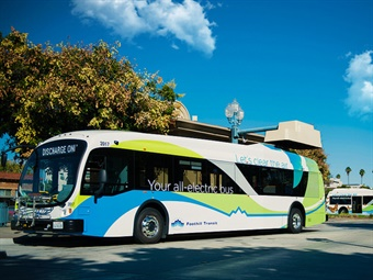 Electric buses are large in transit as agencies look to transform their fleets from diesel. Foothill Transit