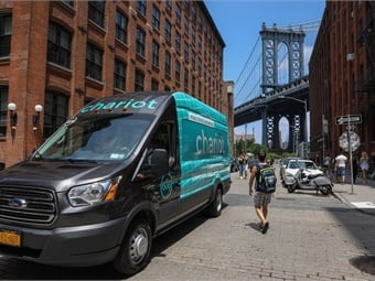 Ford Motor Co. is launching its crowd-sourced shuttle service Chariot in New York City in August, aiming to provide new mobility solutions to consumers. Photo: Business Wire