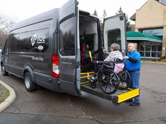 GoRide's non-emergency medical transportation offers true on-demand service, including for those in wheelchairs and other special needs, plus the ability to pre-book transport up to 30 days in advance. Ford