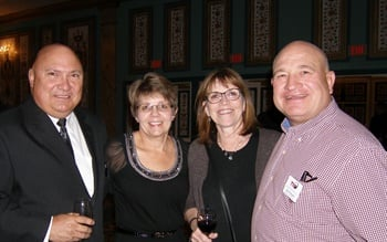 (from left): TIA Past President Tom Formanek and his wife, Brenda, and Roxie and Dan Nothdurft of Tires, Tires, Tires in Sioux Falls, S.D., were among TIA members who came to Las Vegas to honor hall of fame inductees.