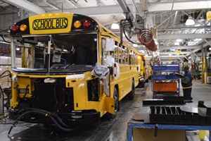 School bus manufacturer Blue Bird is on its way to becoming a public company, with a pending acquisition by Hennessy Capital Acquisition Corp.