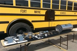 Fort Wayne Community Schools got a $314,108 grant to pay for diesel particulate filters from Hug Filtersystems and the equipment to clean them.