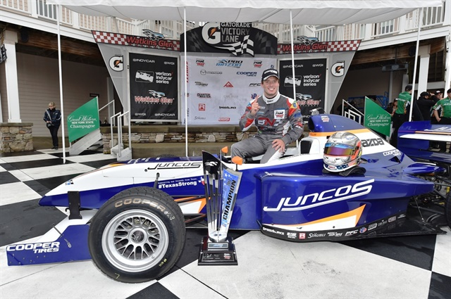 Franzoni hasa Mazda scholarship toward the 2018 Indy Lights Presented by Cooper Tires season.
