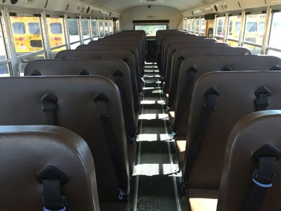 A state budget amendment provides $3 million to pay the extra costs associated with buying buses equipped with lap-shoulder seat belts. File photo courtesy Elk Grove (Calif.) Unified School District