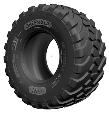 GRI reports its Green XLR F77 is the first radial flotation tire to be made in Sri Lanka.