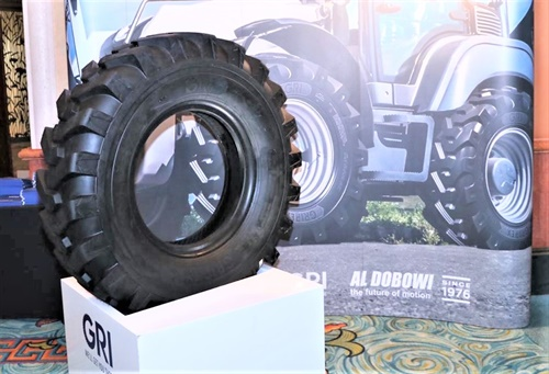 GRI introduced the Grip EX R400, a tire designed for tough working conditions in construction and other industrial applications.