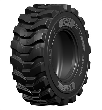 The new XPT SS skid steer tire from GRI has extra deep directional tread and curved lugs designed to provide excellent traction and durability.