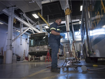 Modern IT solutions can play a major role in monitoring fleet health and keeping assets performing as needed. Photo: GRTC
