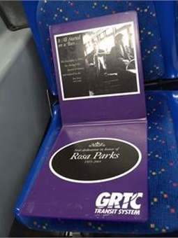 "Parks, the ""Mother of the Civil Rights Movement,"" will be honored by GRTC in a fitting tribute by reserving the first passenger seat on every GRTC bus on the anniversary, Friday, Dec. 1, 2017. Photo: GRTC"