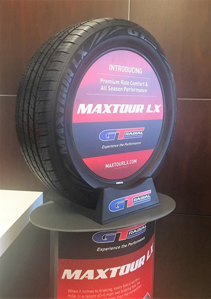 The GT Radial Maxtour LX is available in 42 sizes for wheels 15 to 20 inches. It comes iwth a 70,000 mile tread warranty.