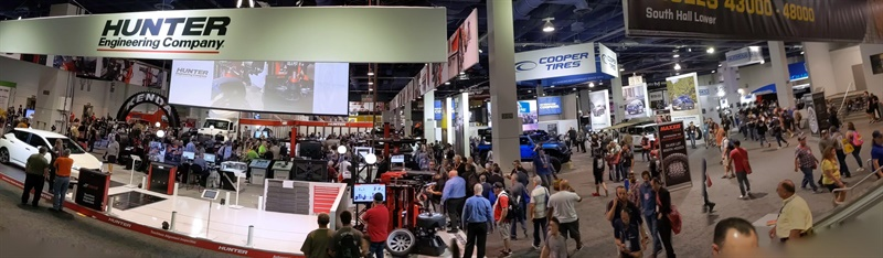 This was the view when attendees walked into the Las Vegas Convention Center's South Hall, home of the Global Tire Expo.