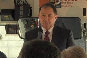 During a press conference on a CNG-powered school bus, Utah Gov. Gary Herbert called on everyone to improve the state's air quality, and he spotlighted Senate Bill 275 as one way to reduce heavy vehicle and fleet emissions.