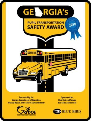 Pupil Transportation Safety Award winners received a metal sign that can be displayed at their facilities.