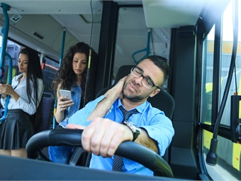 Commercial truck drivers/bus drivers face many factors that create a workplace atmosphere of unhealthy habits.GettyImages-1056241480