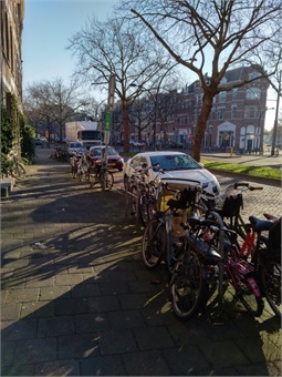 Cycle and Car parking in central Rotterdam
