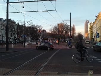 Rotterdam central area traffic
