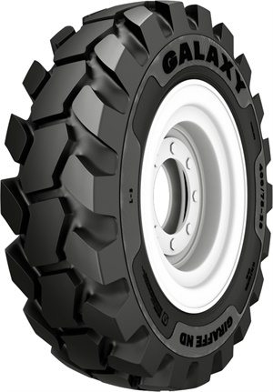Alliance Tire Group says the massive center tread blocks of the new Giraffe ND telehandler tire provide sure footing and extra durability.