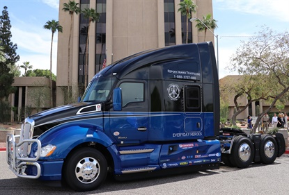 This Kenworth truck will be auctioned June 20, and the proceeds will benefit Truckers Against Trafficking.
