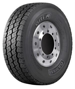 The GAM851 is available in the 385/65R22.5, 425/65R22.5 and 445/65R22.5 sizes.