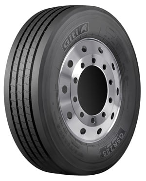 The Giti GSR225 is a regional steer tire available in five sizes and two ply ratings.