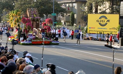 Giti Tire was a sponsor of the Rose Parade in downtown Pasadena, Calif., on Jan. 1.
