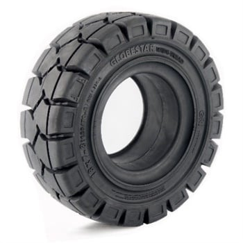 GRI says the tread width of the new lobestar WT forklift tire provides higher contact area and lower tire distortion when turning and cornering.