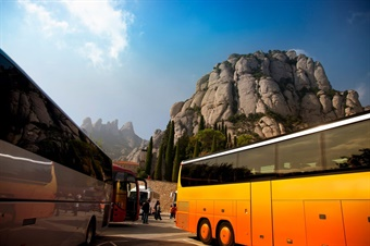 Tech-oriented bus lines and startups are using crowdsourcing and dynamic scheduling to attract new markets. Photo via GoGoCharters/Facebook