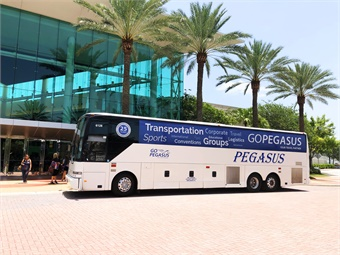 With a fleet of 30 motorcoaches, GoPegasus' clients are mainly groups in the areas of tour operators, schools, corporations, seniors, and free independent travelers.