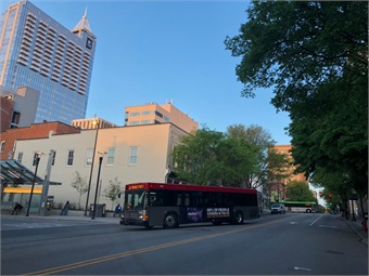 A N.C.-based GoRaleigh bus. Photo: GoRaleigh