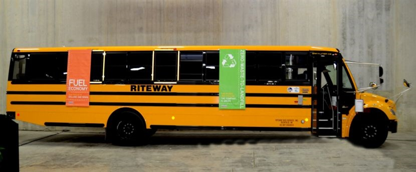 Go Riteway was named a Clean Fuel Champion by Wisconsin Clean Cities. Seen here is one of the company's propane school buses.