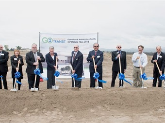 Officials at the GCTD groundbreaking event. Photo: GCTD