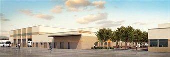GCTD's new operations and maintenance facility (rendering shown) is expected to be LEED certified.