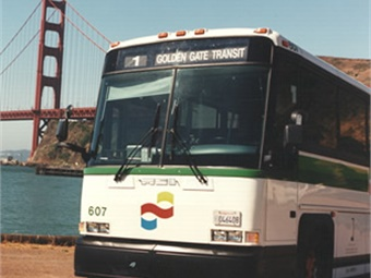The ban applies to the agency's ferries, transbay buses traversing the bridge, ferry terminals, and transit kiosks.
