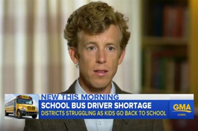A Good Morning America segment cited School Bus Fleet data on driver shortage and interviewed SBF Editor Thomas McMahon on the topic.