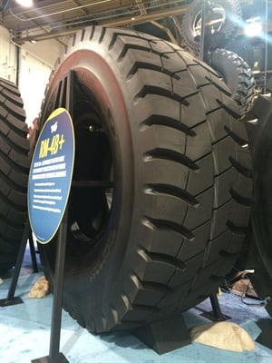 "The new RM-4B+ complements ""the wide range of cost-reducing support, services and management tools that we are promoting during MINExpo 2016,"" says Goodyear's Eric Matson."