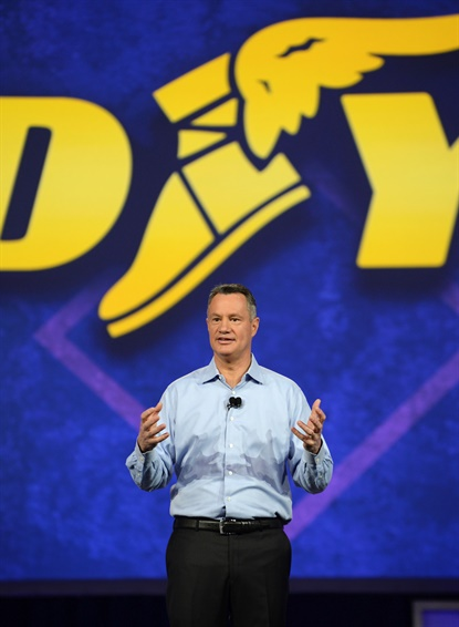 Rich Kramer, pictured at Goodyear's recent customer conference, says the consumer business in the Americas and Asia Pacific regions drove the company's good 2016 results.