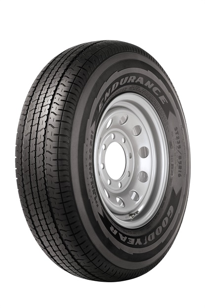 The Endurance trailer tire isavailable in load ranges D and E for larger trailer loads.