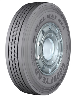 Goodyear will display its Fuel Max RSA regional tire (pictured) and other products and services at the 2017 MATS.