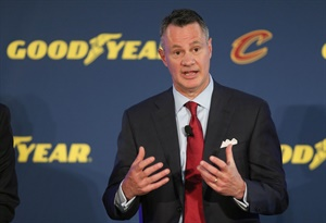 """Goodyear Chairman, CEO and President Rich Kramer says the partnership with the Cleveland Cavaliers is """"a natural fit."""""""
