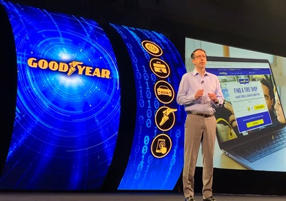 Scott Rogers says Goodyear.com is driving consumers to independent tire dealers for more than tire installation, but also automotive services.