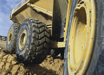 The TL-3A+ from Goodyear is designed for soft underfoot conditions such as earth, mud and sand.