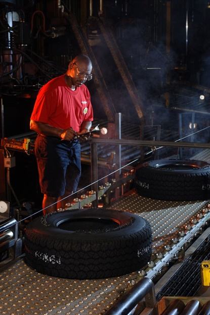 Goodyear says it will suspend tire and chemical manufacturing in its Americas region.