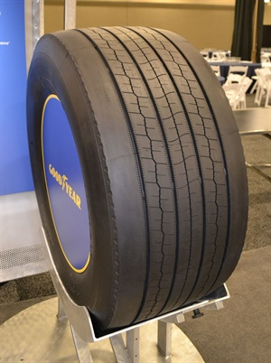 The Fuel Max SST (pictured) is a trailer tire and the Fuel Max SSD is a drive tire. Both are SmartWay-verified and feature a tread compound with new filler technology for enhanced fuel economy