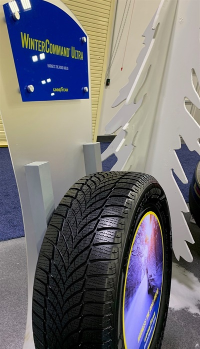 Goodyear's new premium studless WinterCommand Ultra will be available in 53 sizes. The company unveiled the tire at its 2020 dealer conference.
