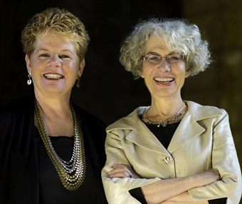 BART GM Grace Crunican (left) and former MassDOT and MBTA board member Liz Levin are co-authors of the book, Boots on the Ground, Flats in the Boardroom: Transportation Women Tell Their Stories. Photo: John Livzey