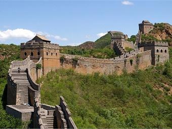 Great Wall of China near Jinshanling from 2009 via WikimediaCommons. Photo credit: Jakub-Halun