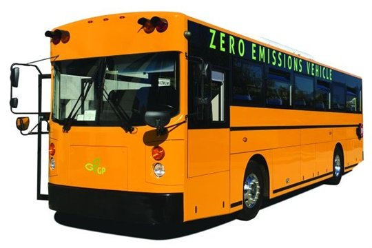 Two GreenPower Synapse 72 all-electric school buses are expected to be delivered to Rialto Unified School District this summer.